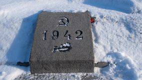 La Segunda Guerra Mundial leningrad Cementerio de Piskarevskoye almacen de video