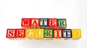 La seguridad del agua del término exhibida visualmente fotografía de archivo