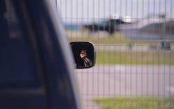 La seguridad del pequeño aeropuerto Foto de archivo