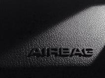 La seguridad en el coche garantiza el saco hinchable Foto de archivo