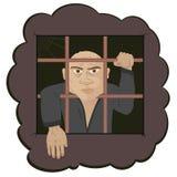 La seguridad humana de la mano del crimen del preso barra la privación m del castigo Fotografía de archivo
