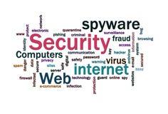 La seguridad redacta la nube Imágenes de archivo libres de regalías