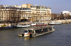 La Seine and the bank in Paris Royalty Free Stock Photography