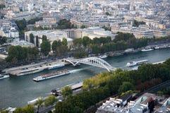 La Seine dans des Frances de Paris photographie stock