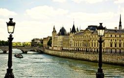 La Seine in Paris Stockbild