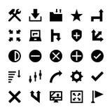 La selección, cursores, vuelve a clasificar según el tamaño, se mueve, los controles y los iconos 6 del vector de las flechas de  Fotos de archivo