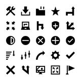 La selezione, cursori, ridimensiona, si muove, comandi ed icone 6 di vettore delle frecce di navigazione Fotografie Stock