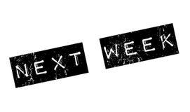 La semaine prochaine tampon en caoutchouc Images libres de droits