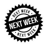 La semaine prochaine timbre Photo libre de droits