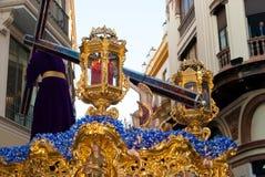 La Semana圣诞老人队伍在西班牙,安达卢西亚,塞维利亚 图库摄影