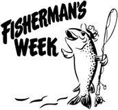 La semana del pescador stock de ilustración