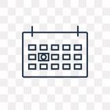 La semana próxima icono del vector aislado en el fondo transparente, linear ilustración del vector
