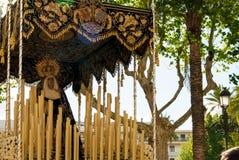La Semana Santa Procession i Spanien, Andalucia Arkivfoto