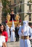 La Semana Santa Procession i Spanien, Andalucia, Cadiz Royaltyfri Foto