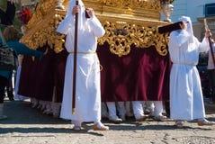 La Semana Santa Procession i Spanien, Andalucia, Cadiz Royaltyfri Fotografi
