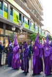 La Semana Santa Procession i Spanien, Andalucia, Seville Arkivbild
