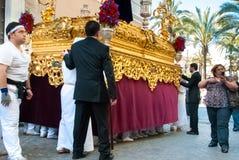 La Semana Santa Procession na Espanha, Andalucia, Cadiz Foto de Stock Royalty Free