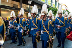 La Semana Santa Procession na Espanha, Andalucia, Sevilha Foto de Stock