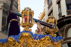 La Semana Santa Procession na Espanha, Andalucia, Sevilha Fotografia de Stock