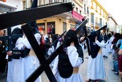 La Semana Santa Procession in Spagna, Andalusia Immagini Stock