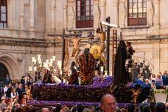 La Semana Santa Procession in Spagna, Andalusia Fotografie Stock Libere da Diritti