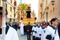 La Semana Santa Procession in Spagna, Andalusia, Cadice Fotografie Stock Libere da Diritti