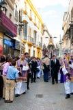 La Semana Santa Procession in Spagna, Andalusia, Siviglia Fotografie Stock Libere da Diritti
