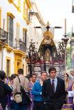 La Semana Santa Procession in Spagna, Andalusia, Siviglia Immagini Stock Libere da Diritti