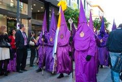 La Semana Santa Procession in Spagna, Andalusia, Siviglia Fotografia Stock