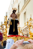 La Semana Santa Procession in Spanien, Andalusien, Cadiz Lizenzfreie Stockbilder
