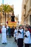 La Semana Santa Procession in Spanien, Andalusien, Cadiz Lizenzfreies Stockfoto