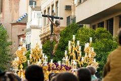 La Semana Santa Procession in Spanje, Andalucia Royalty-vrije Stock Foto's