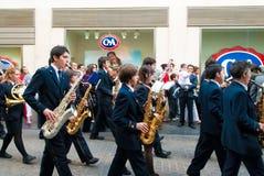 La Semana Santa Procession in Spanje, Andalucia, Sevilla Royalty-vrije Stock Foto