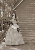 La sepia entonó a la mujer de la guerra civil Imagenes de archivo