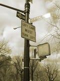 La sepia firma el nyc Fotos de archivo
