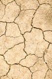 La sequía, la tierra se agrieta, ninguna agua caliente, falta de humedad Fotografía de archivo