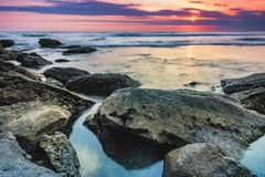 La sera sulla spiaggia Immagini Stock