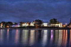 La sera tarda del sobborgo di Troitskoe Fotografia Stock