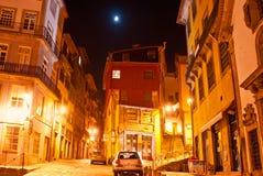 La sera a vecchia Oporto Immagini Stock