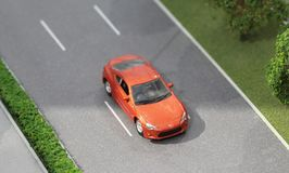 La Serbia; Belgrado; 24 marzo 2018; Modello miniatura dell'automobile di Toyota Immagine Stock Libera da Diritti