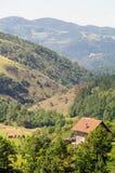 La Serbia: casa sola nelle alpi di Dinaric Immagini Stock Libere da Diritti