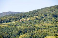 La Serbia: case nelle alpi di Dinaric Fotografie Stock Libere da Diritti