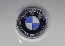 La Serbie ; Belgrade ; Le 2 avril 2017 ; La fin du logo de BMW sur le whi photographie stock libre de droits