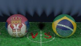 La Serbie contre le Brésil Coupe du monde 2018 de la FIFA Image 3D originale Photographie stock