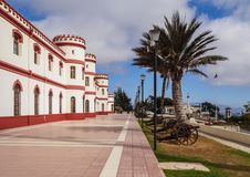 La Serena in Chile. Military Building in the Santa Lucia Park, La Serena, Coquimbo Region, Chile Stock Image