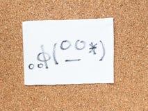 La serie de emoticons japoneses llamó Kaomoji, aprendiendo Imagen de archivo