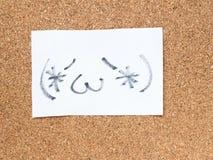 La serie de emoticons japoneses llamó Kaomoji, contenido Imagen de archivo libre de regalías