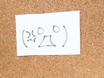 La serie de emoticons japoneses llamó Kaomoji, enojado Fotos de archivo libres de regalías
