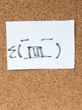 La serie de emoticons japoneses llamó Kaomoji, enojado Fotografía de archivo