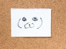 La serie de emoticons japoneses llamó Kaomoji, espacio en blanco Foto de archivo libre de regalías